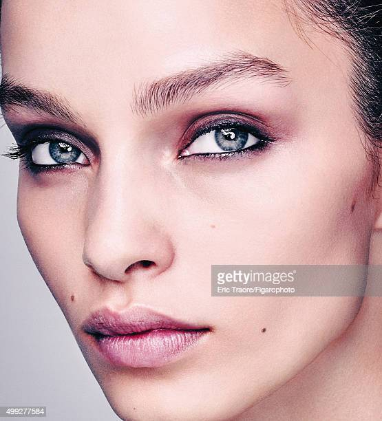 Model Luma Grothe poses for Madame Figaro on July 15 2015 in Paris France Makeup by LOréal Paris PUBLISHED IMAGE