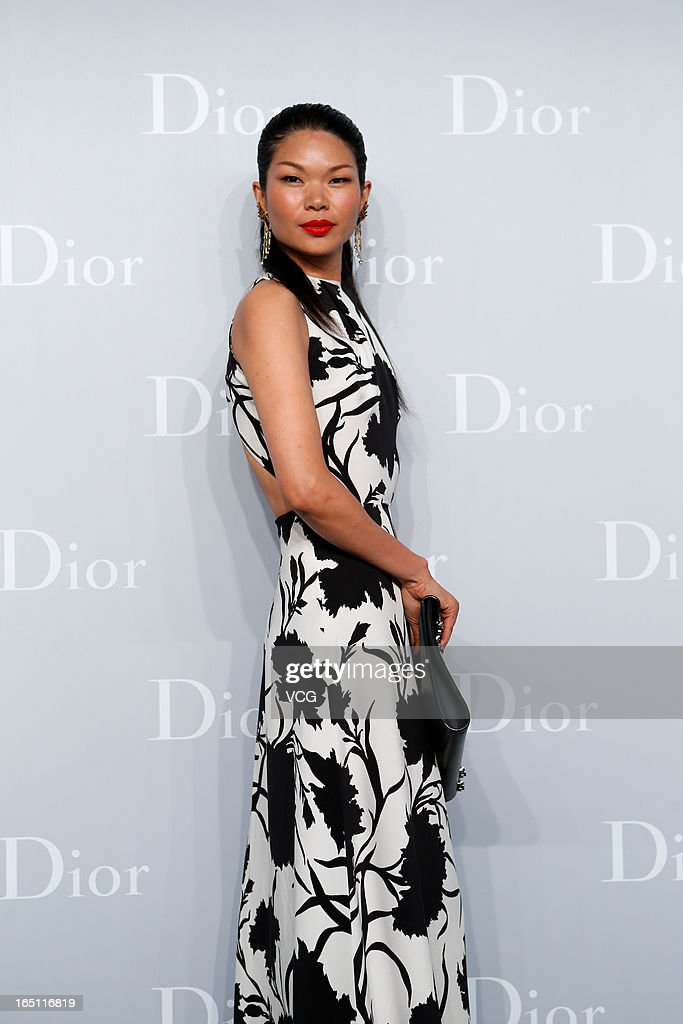 Model Lv Yan attends Christian Dior S/S 2013 Haute Couture Collection at Five on the Bund on March 30, 2013 in Shanghai, China.