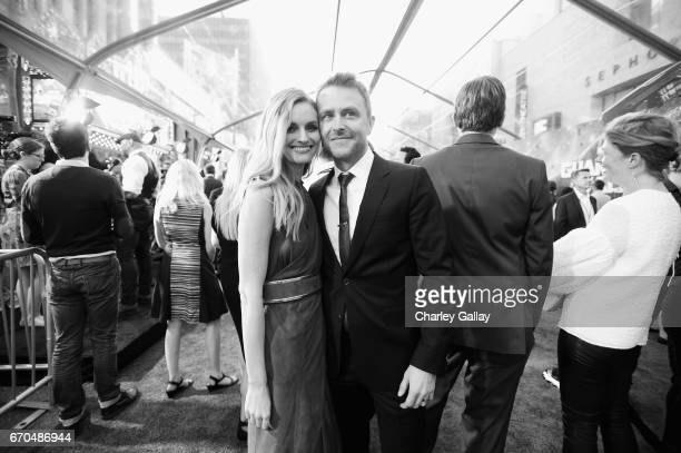 "Model Lydia Hearst and TV personality Chris Hardwick at The World Premiere of Marvel Studios' ""Guardians of the Galaxy Vol 2"" at Dolby Theatre in..."