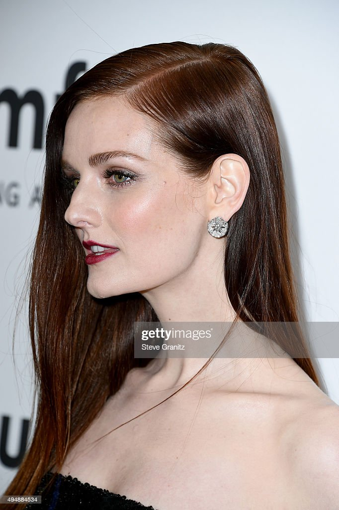 Model Lydia Hearst attends amfAR's Inspiration Gala Los Angeles at Milk Studios on October 29 2015 in Hollywood California
