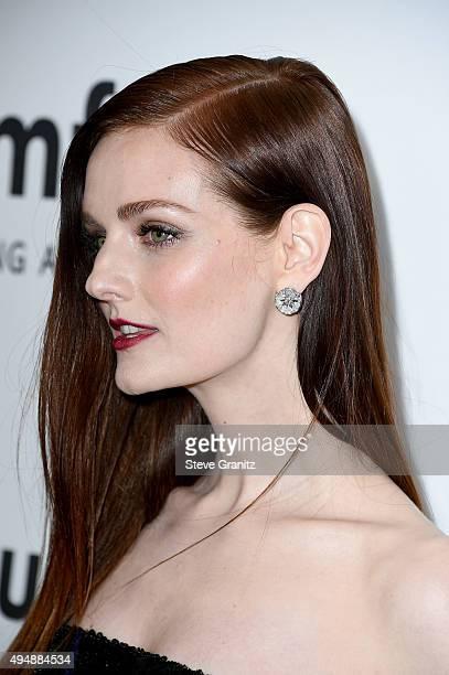 Model Lydia Hearst attends amfAR's Inspiration Gala Los Angeles at Milk Studios on October 29 2015 in Hollywood California