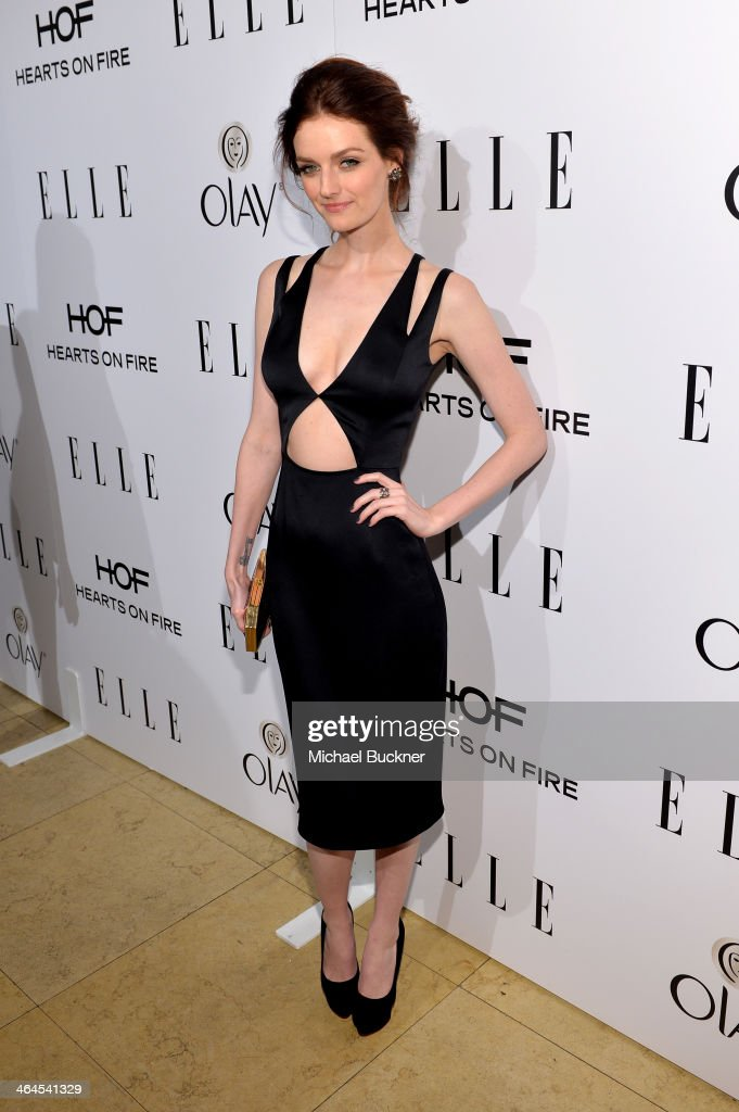 Model Lydia Hearst attends ELLE's Annual Women in Television Celebration on January 22, 2014 in West Hollywood, California.