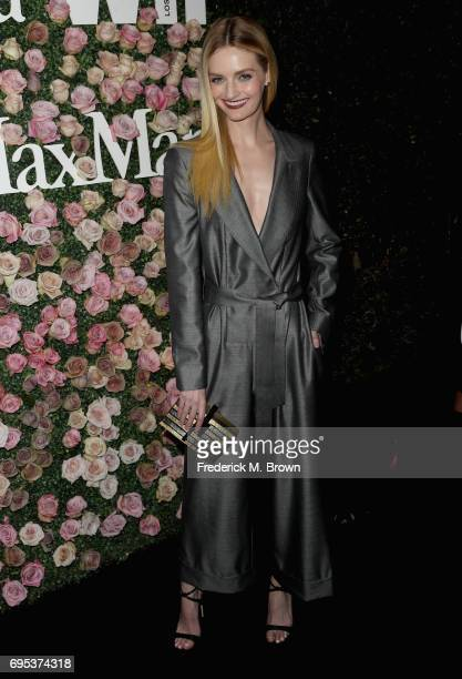 Model Lydia Hearst attends Max Mara Celebration of Zoey Deutch as The 2017 Women In Film Max Mara Face of The Future Award Recipient at Chateau...