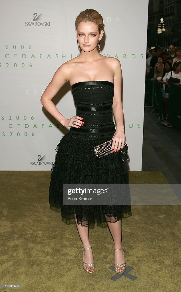 Model Lydia Hearst attends the 2006 CFDA Awards at the New York Public Library June 5, 2006 in New York City.
