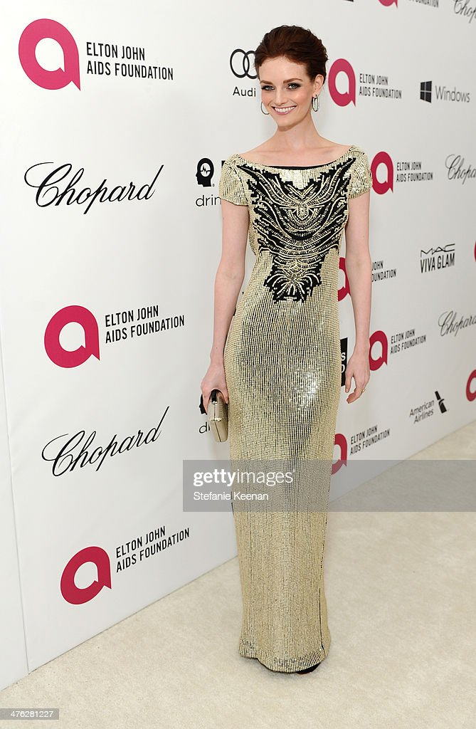 Model Lydia Hearst attends the 22nd Annual Elton John AIDS Foundation Academy Awards viewing party with Chopard at the City of West Hollywood Park on...