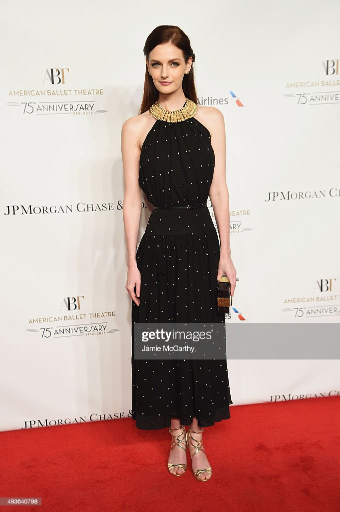 Model Lydia Hearst attends the American Ballet 75th Anniversary Fall Gala at David H. Koch Theater at Lincoln Center on October 21, 2015 in New York City.