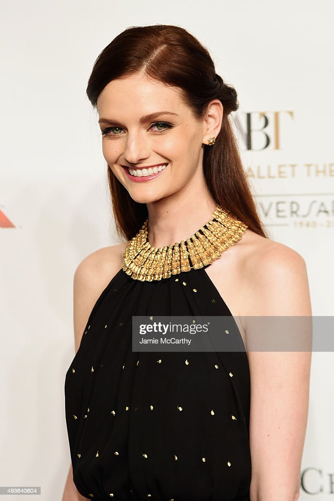Model Lydia Hearst attends the American Ballet 75th Anniversary Fall Gala at David H Koch Theater at Lincoln Center on October 21 2015 in New York...