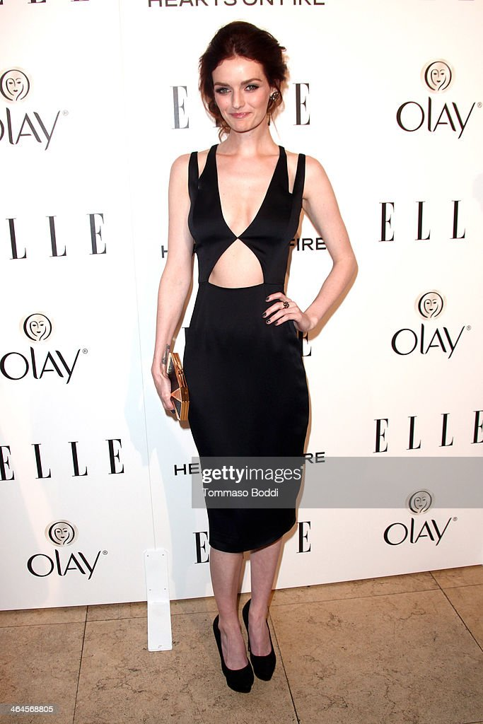 Model Lydia Hearst attends the ELLE Women In Television Celebration held at the Sunset Tower on January 22, 2014 in West Hollywood, California.