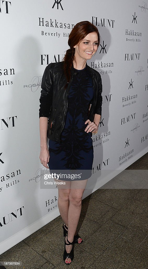 Model <a gi-track='captionPersonalityLinkClicked' href=/galleries/search?phrase=Lydia+Hearst&family=editorial&specificpeople=221723 ng-click='$event.stopPropagation()'>Lydia Hearst</a> attends the Flaunt Magazine November issue party at Hakkasan on November 7, 2013 in Beverly Hills, California.