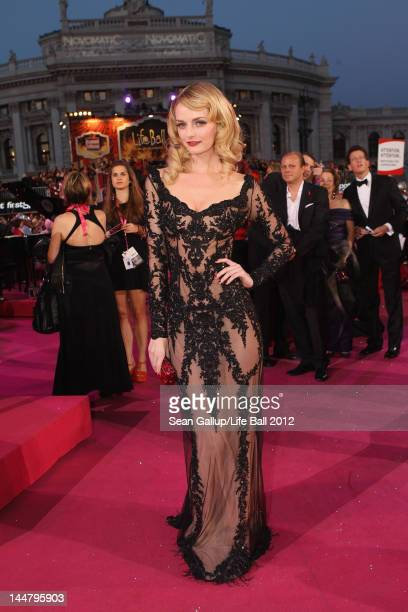 Model Lydia Hearst attends the Life Ball 2012 AIDS charity fundraiser at City Hall on May 192 012 in Vienna Austria