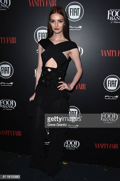 Model Lydia Hearst attends Vanity Fair and FIAT Toast To 'Young Hollywood' at Chateau Marmont on February 23 2016 in Los Angeles California