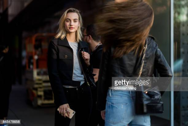 Model Maartje Verhoef seen in the streets of Manhattan outside Diane von Furstenberg during New York Fashion Week on September 10 2017 in New York...