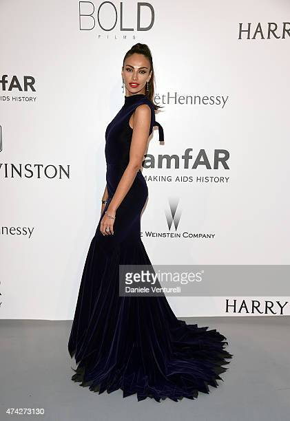 Model Madalina Ghenea attends amfAR's 22nd Cinema Against AIDS Gala Presented By Bold Films And Harry Winston at Hotel du CapEdenRoc on May 21 2015...