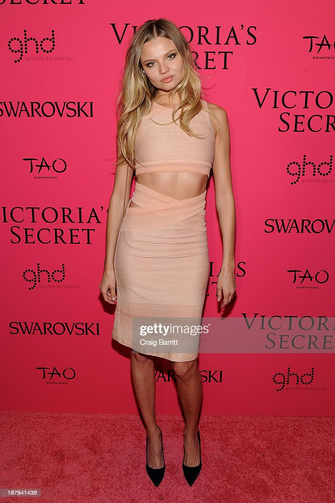 Model Magdalena Frackowiak attends the 2013 Victoria's Secret Fashion after party at TAO Downtown on November 13, 2013 in New York City.