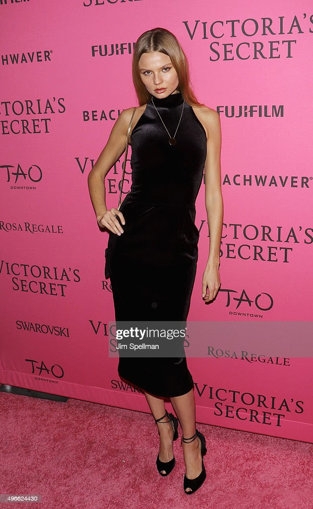 Model <a gi-track='captionPersonalityLinkClicked' href=/galleries/search?phrase=Magdalena+Frackowiak&family=editorial&specificpeople=4341022 ng-click='$event.stopPropagation()'>Magdalena Frackowiak</a> attends the 2015 Victoria's Secret Fashion Show after party at TAO Downtown on November 10, 2015 in New York City.