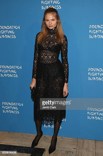 Model Magdalena Frackowiak attends the 2016 Foundation Fighting Blindness World Gala at Cipriani Downtown on April 12 2016 in New York City