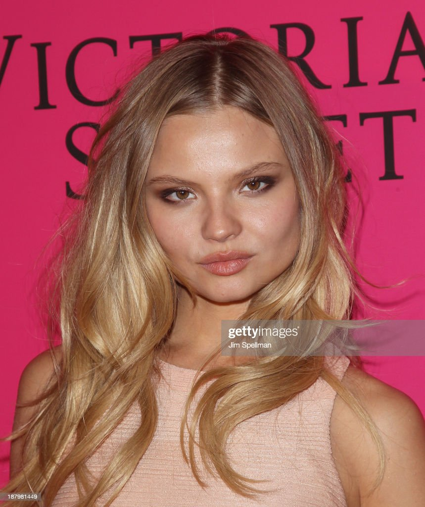 Model <a gi-track='captionPersonalityLinkClicked' href=/galleries/search?phrase=Magdalena+Frackowiak&family=editorial&specificpeople=4341022 ng-click='$event.stopPropagation()'>Magdalena Frackowiak</a> attends the after party for the 2013 Victoria's Secret Fashion Show at TAO Downtown on November 13, 2013 in New York City.
