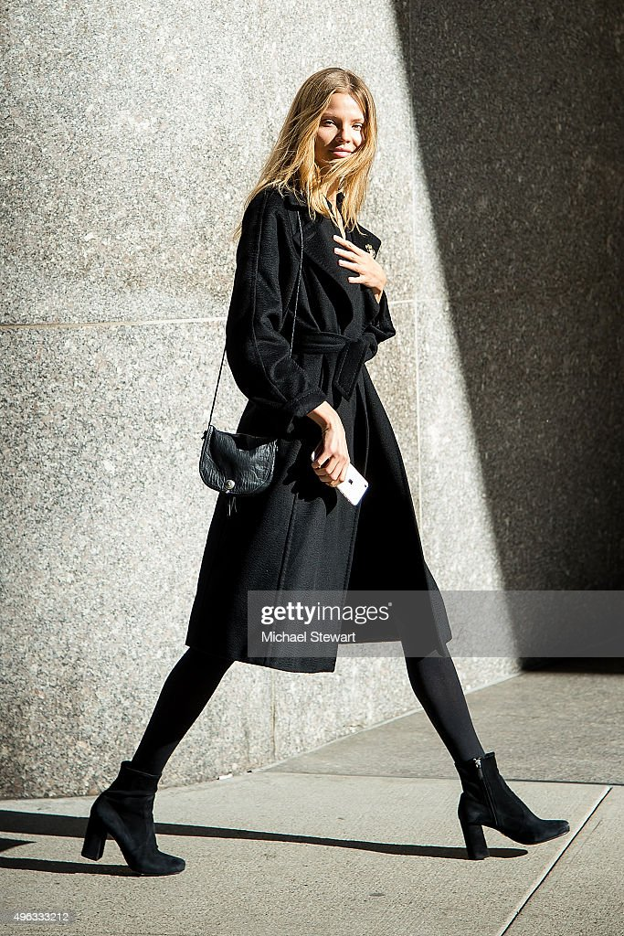 Model <a gi-track='captionPersonalityLinkClicked' href=/galleries/search?phrase=Magdalena+Frackowiak&family=editorial&specificpeople=4341022 ng-click='$event.stopPropagation()'>Magdalena Frackowiak</a> is seen in Midtown on November 8, 2015 in New York City.