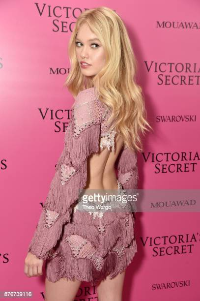 Model Maggie Laine attends the 2017 Victoria's Secret Fashion Show In Shanghai After Party at MercedesBenz Arena on November 20 2017 in Shanghai China