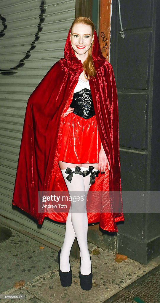 Model Maike van Grieken attends the 2013 Heidi Klum Halloween Party at Marquee on October 31, 2013 in New York City.