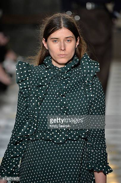 Model Maja Zupancic walks the runway during the Vetements show as part of Paris Fashion Week Womenswear Fall/Winter 2016/2017 on March 3 2016 in...
