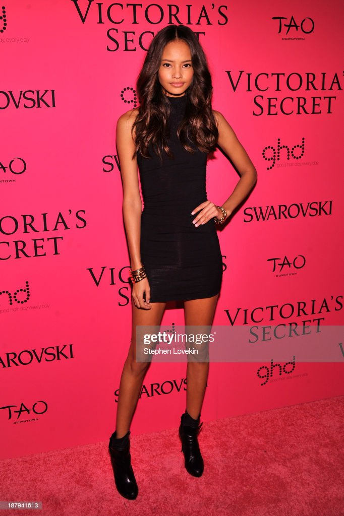 Model Malaika Firth attends the 2013 Victoria's Secret Fashion Show at TAO Downtown on November 13, 2013 in New York City.