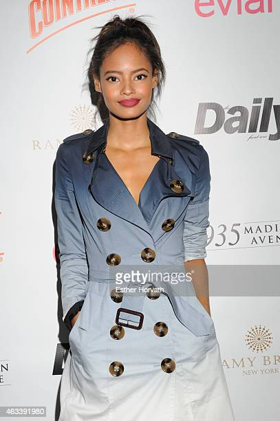 Model Malaika Firth attends The Daily Front Row's 2015 Model Issue reception during New York Fashion Week Fall 2015 at Beautique on February 13 2015...