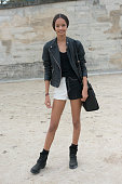 Model Malaika Firth on day 8 of Paris Fashion Week Spring/Summer 2014 Paris October 01 2013 in Paris France