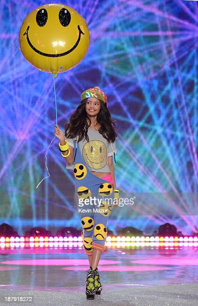 Model Malaika Firth walks the runway at the 2013 Victoria's Secret Fashion Show at Lexington Avenue Armory on November 13 2013 in New York City