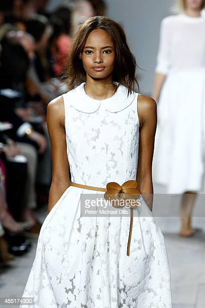 Model Malaika Firth walks the runway at the Michael Kors fashion show during MercedesBenz Fashion Week Spring 2015 at Spring Studios on September 10...