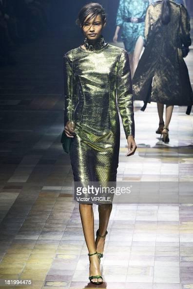 Model Malaika Firth walks the runway during the Lanvin show as part of Paris Fashion Week Womenswear Spring/Summer 2014 on September 26 2013 in Paris...