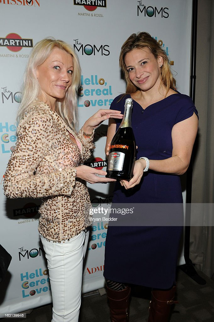 Model Malena Belafonte and chef Donatella Arpaia attends the Moms and MARTINI celebrate Tina Fey and release of her new film, 'Admission' at Disney Screening Room on March 5, 2013 in New York City.