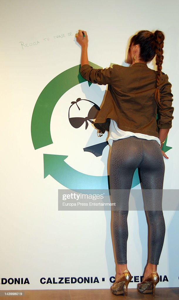 Model Malena Costa attends Calzedonia recycled campaign photocall on May 4 2012 in Madrid Spain