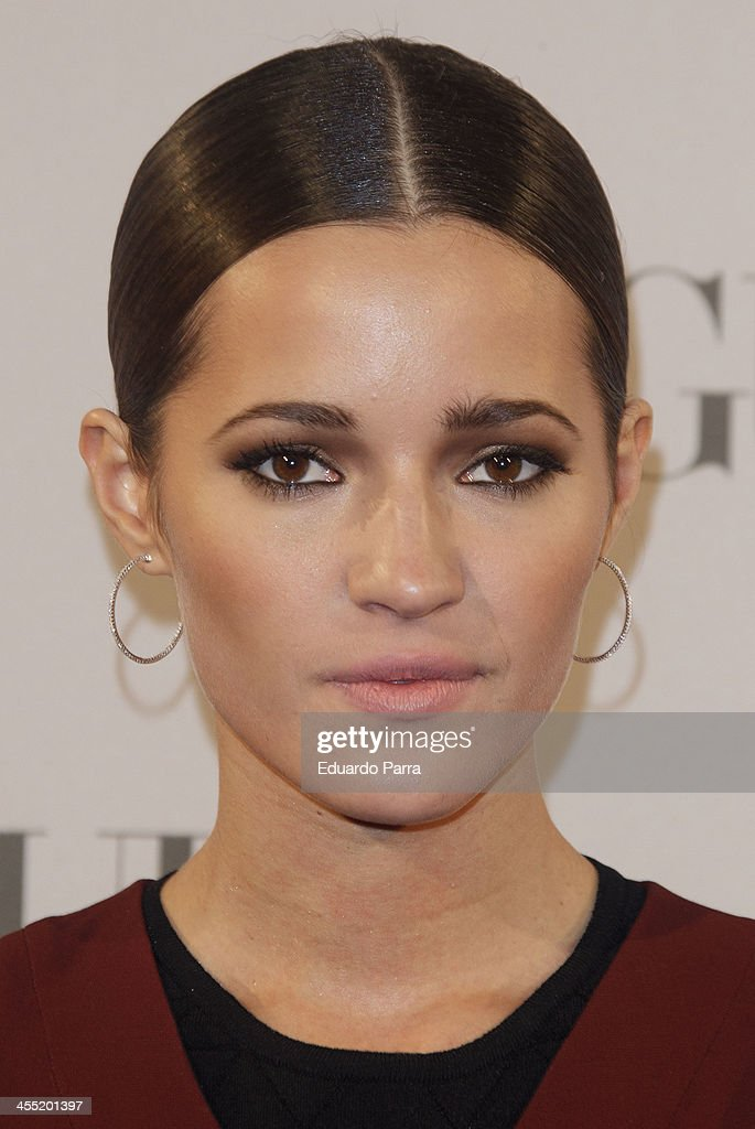 Model Malena Costa attends Vogue joyas 2013 awards photocall at Madrid stock exchange on December 11 2013 in Madrid Spain