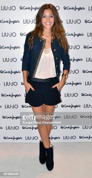 Model Malena Costa attens 'Lui Jo' new collection presentation photocall on September 26 2013 in Madrid Spain