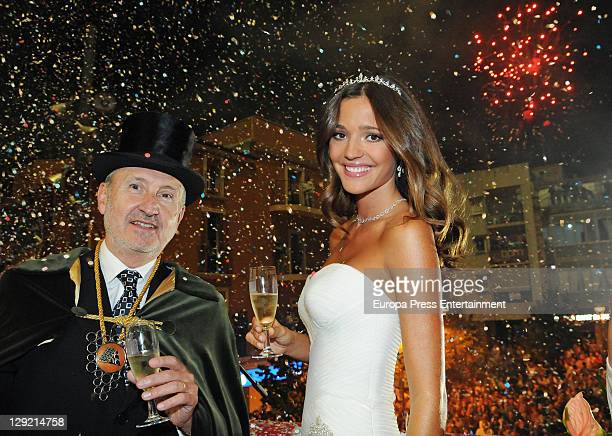 Model Malena Costa is appointed as Cava Queen 2011 on October 8 2011 in Sant Sadurni d'Anoia Spain