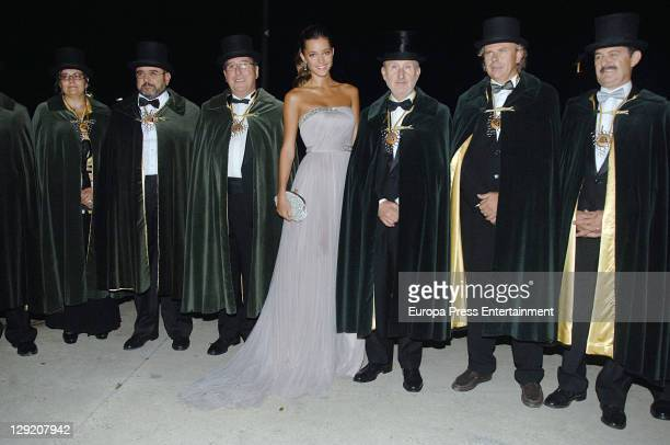 Model Malena Costa Queen Cava 2011 attends the Investiture of president of Catalonia Artur Mas and dancer Rafael Amargo as Special Honoured Members...