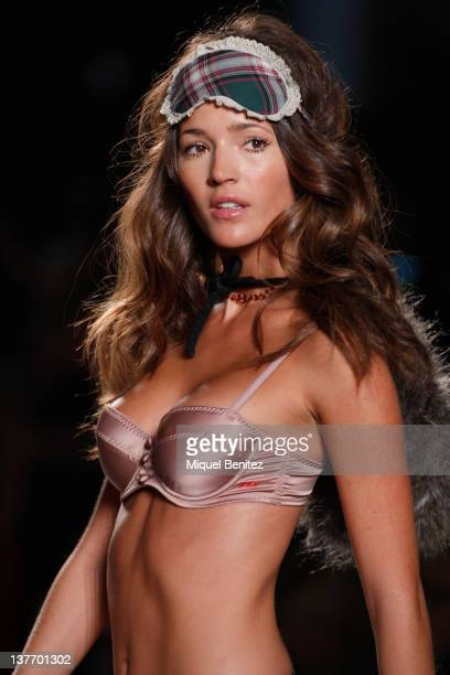 Model Malena Costa walks the runway in the TCN fashion show during the 080 BCN Fashion Week Fall/Winter 20122013 on January 25 2012 in Barcelona Spain