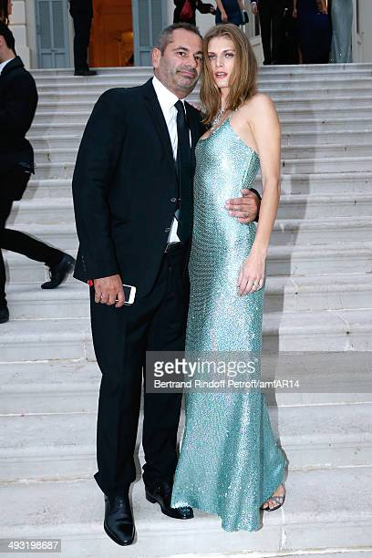 Model Malgosia Bela and JeanYves Le Fur attend amfAR's 21st Cinema Against AIDS Gala Presented By WORLDVIEW BOLD FILMS And BVLGARI at Hotel du...