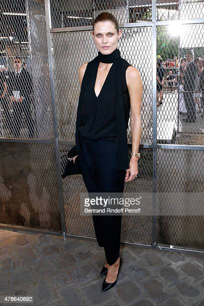 Model Malgosia Bela attends the Givenchy Menswear Spring/Summer 2016 show as part of Paris Fashion Week on June 26 2015 in Paris France