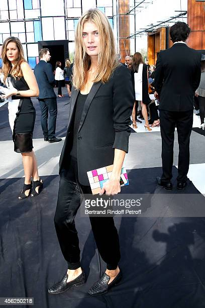 Model Malgosia Bela attends the Maxime Simoens show as part of the Paris Fashion Week Womenswear Spring/Summer 2015 on September 28 2014 in Paris...