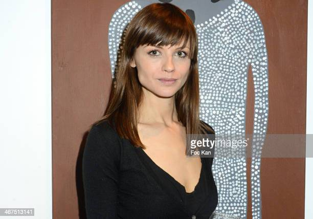 Model Mallory Betting attends the '3 Events in 1 Night' Galerie Art Roch Launch Party At Galerie Art Roch on February 6 2014 in Paris France