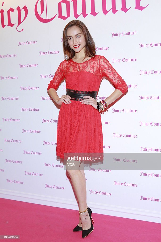 Model Mandy Lieu attends Juicy Couture promotional event on September 12, 2013 in Hong Kong, Hong Kong.