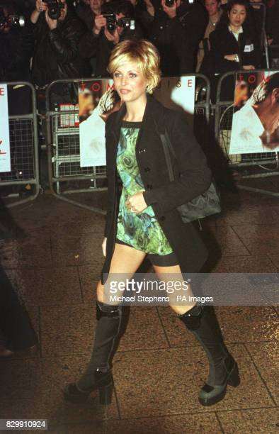 Model Mandy Smith at the premiere of Jerry Maguire