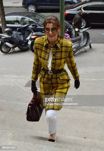 Model Mar Flores is seen going to a restaurant on March 22 2017 in Madrid Spain