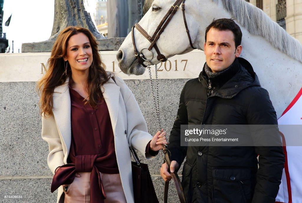 Model Mar Saura and Sergio Alvarez Moya present Madrid Horse Week 2017 on November 14, 2017 in Madrid, Spain.