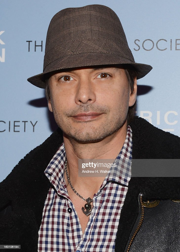 Model Marcus Schenkenberg attends The Cinema Society Make Up For Ever screening of 'Electrick Children' at IFC Center on March 4 2013 in New York City
