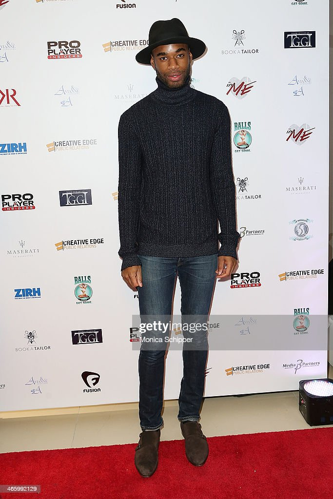 Model Marcus Stewart attends the 7th Annual Music Meets Fashion Event on January 30, 2014 in New York City.