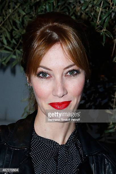 Model Mareva Galanter attends the 'Studio Des Acacias' from Mazarine Group Opening Party with the Mark Handforth 'Drop Shadow' Exhibition Held at...