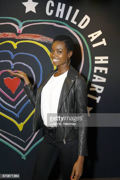 Model Maria Borges attends Fashion For Relief 'Child At Heart' cocktail party on April 20 2017 in Paris France The 'Child At Heart' collection...